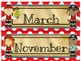 Pirate Themed Calendar Monthly Headers
