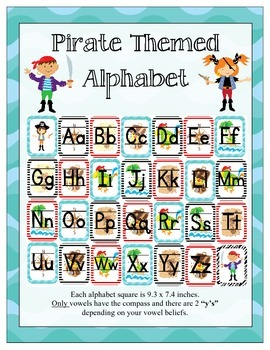 Pirate Themed Classroom ABC's
