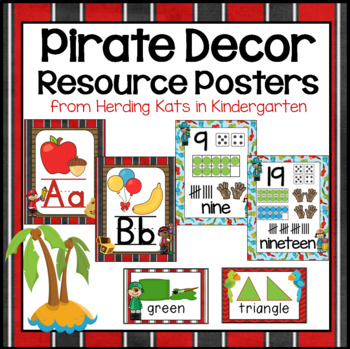 Pirate Themed Classroom Poster Decor Bundle