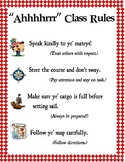 Pirate Themed Classroom Rules