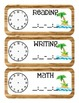Pirate Themed Classroom Schedule
