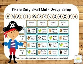Pirate Themed Classroom Small Group Math Center/ Workshop Setup