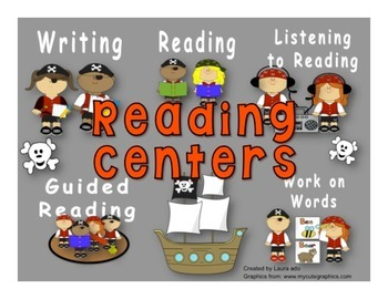 Pirate Themed Daily Automated Centers & Guided Reading Rot
