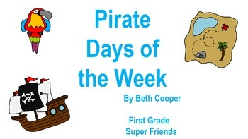 Pirate Themed Day of the Week Cards