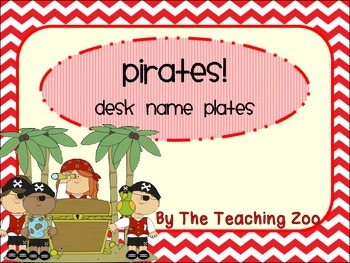 Pirate Themed Desk Name Plates