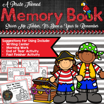End of the Year Activities:  Pirate Themed Memory Book