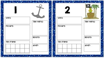Pirate Themed Multiple Number Representation Cards 1 to 20