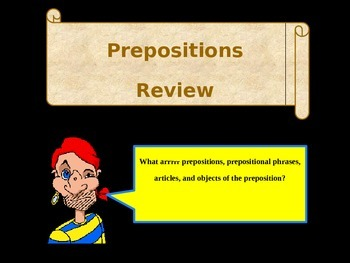 Pirate Themed Prepositions Review