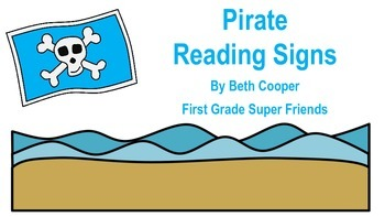 Pirate Themed Reading Signs