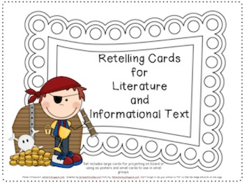 Pirate Themed Retelling Cards for Literature and Informati