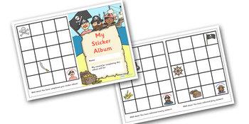 Pirate Themed Reward Sticker Album