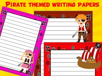 Pirate Themed Writing Paper - Literacy - Writing Centers