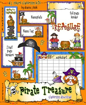 Pirate Treasure Classroom Borders & Printables