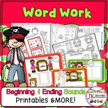 Pirate Treasure Fun!  Beginning & Ending Consonant Sounds