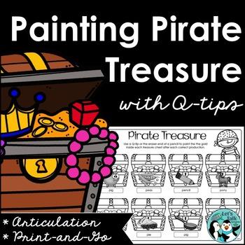 Pirate Treasure Q-Tip Painting