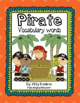 Pirate Vocabulary Words