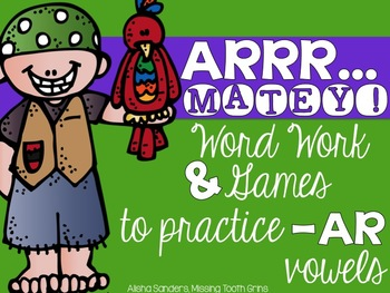 Pirate Word Work and Writing Prompts (-ar vowel sound)