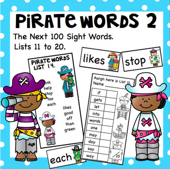 Pirate Words 2 - The Next 100 Sight Words.