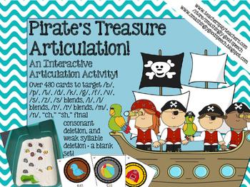 Pirate's Treasure - An Interactive Sensory Bin Articulatio