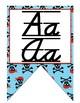Pirate themed D'Nealian manuscript and cursive Alphabet banner
