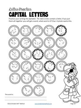 Alphabet Cursive Handwriting Worksheets for 5 - 11 years: Pirates