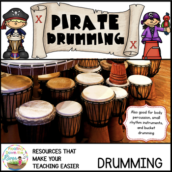 #talklikeapiratemusicsale Pirate Drumming Bundle Rhythm/Pe