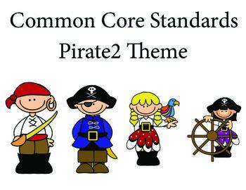 Piratekids 2nd grade English Common core standards posters
