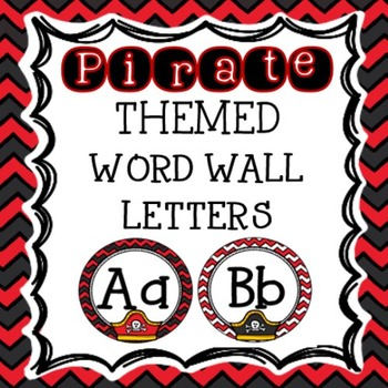 Pirates Classroom Theme - Word Wall Letter Headers