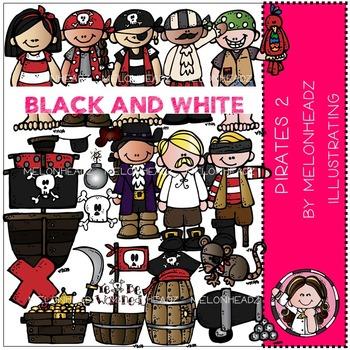 Pirates 2 by Melonheadz BLACK AND WHITE