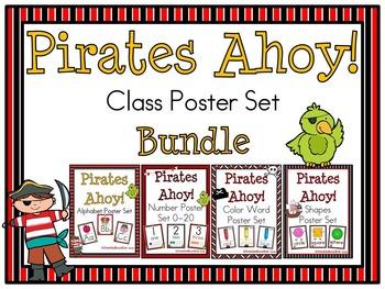 Pirates Ahoy! Classroom Décor Poster Bundle