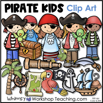 Pirates Clip Art - Whimsy Workshop Teaching