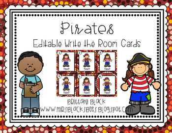 Pirates~ Editable Write the Room