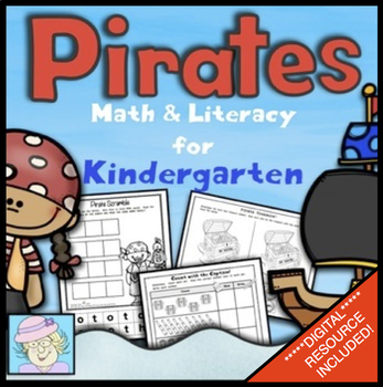 Kindergarten Math and Literacy Printables: Pirate Theme (N