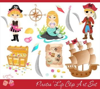 Pirates Pirate Life Clipart Set