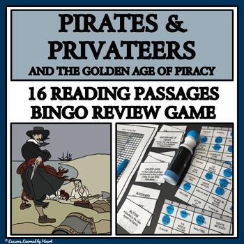 Pirates - Reading Passages and Bingo