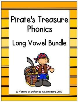 Pirate's Treasure Phonics: Long Vowel Bundle