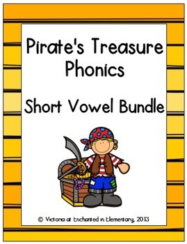 Pirate's Treasure Phonics: Short Vowel Bundle