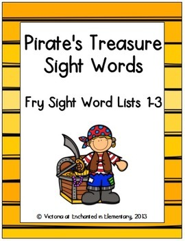 Pirate's Treasure Sight Words! Bundle of Fry Lists 1-3