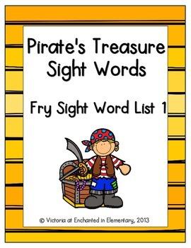 Pirate's Treasure Sight Words! Fry List 1
