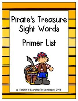 Pirate's Treasure Sight Words! Primer List Pack