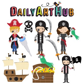 Pirates Yaar Clip Art - Great for Art Class Projects!