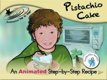 Pistachio Cake - Animated Step-by-Step Recipe SymbolStix