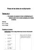 Pistas de las tablas de multiplicación/ Multiplication Tri