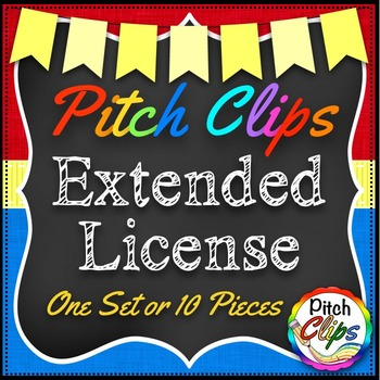 Pitch Clips - Extended License - Bundle - 1 pack or 10 pie