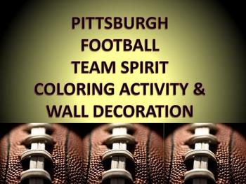 Pittsburgh Football Team Spirit Coloring Activity & Bullet