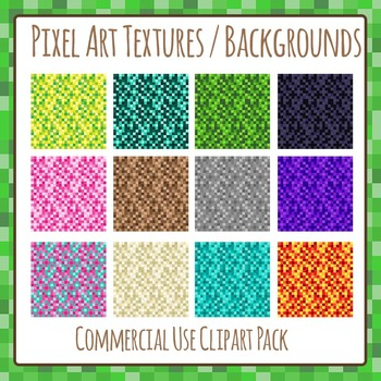 Pixel Art - 8 Bit Textures Clip Art Pack for Commercial Use