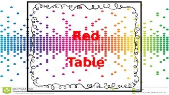 Pixel Table Signs
