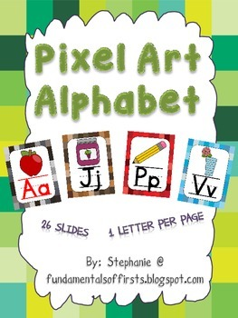 Pixel Themed Alphabet