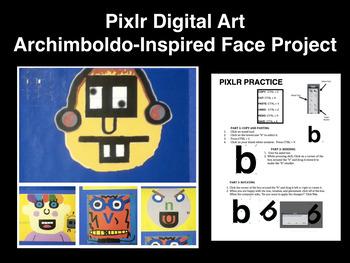 Pixlr Digital Art Graphic Design Face Project Printable Tu