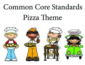 Pizza 3rd grade English Common core standards posters
